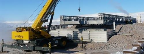 bridges, abutments, prefabricated, mining, installation, construction